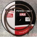 Kábel napájací 8mm čierny OFC Meď 100% s 707 vláknami