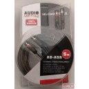 Audio Systém RCA kábel 5m s rem káblom OFC, 100% meď s 3 tienením