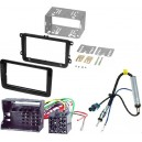 VW Golf 6, Fabia 2007 2DIN set+iso+antenna redukcia